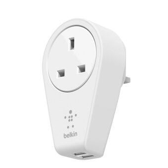 Belkin F8M102sa BOOSTUP 2-Ports USB Swivel Charger + Outlet (UK)