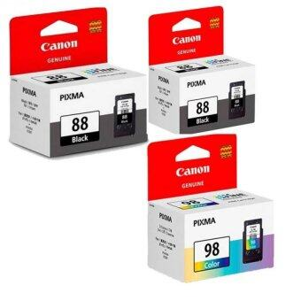 Harga [Best Buy for 3] 2 Units Canon PG-88 Black + 1 Unit CL-98 Color InkCartridge