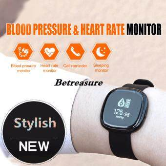 Betreasure P2 Heart Rate Blood Pressure Monitor Smart Band Activity Tracker  Waterproof Bracelet for iOS and ... 33f62b042d