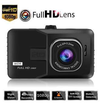 "Black Dash Cam Dual Camera Reversing Recorder Car DVR Video 170?1080P 3.0"" LCD"