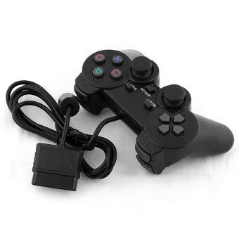 Harga Black Wired Single Vibration Joystick Game Gamepad ControllerJoypad For PS2