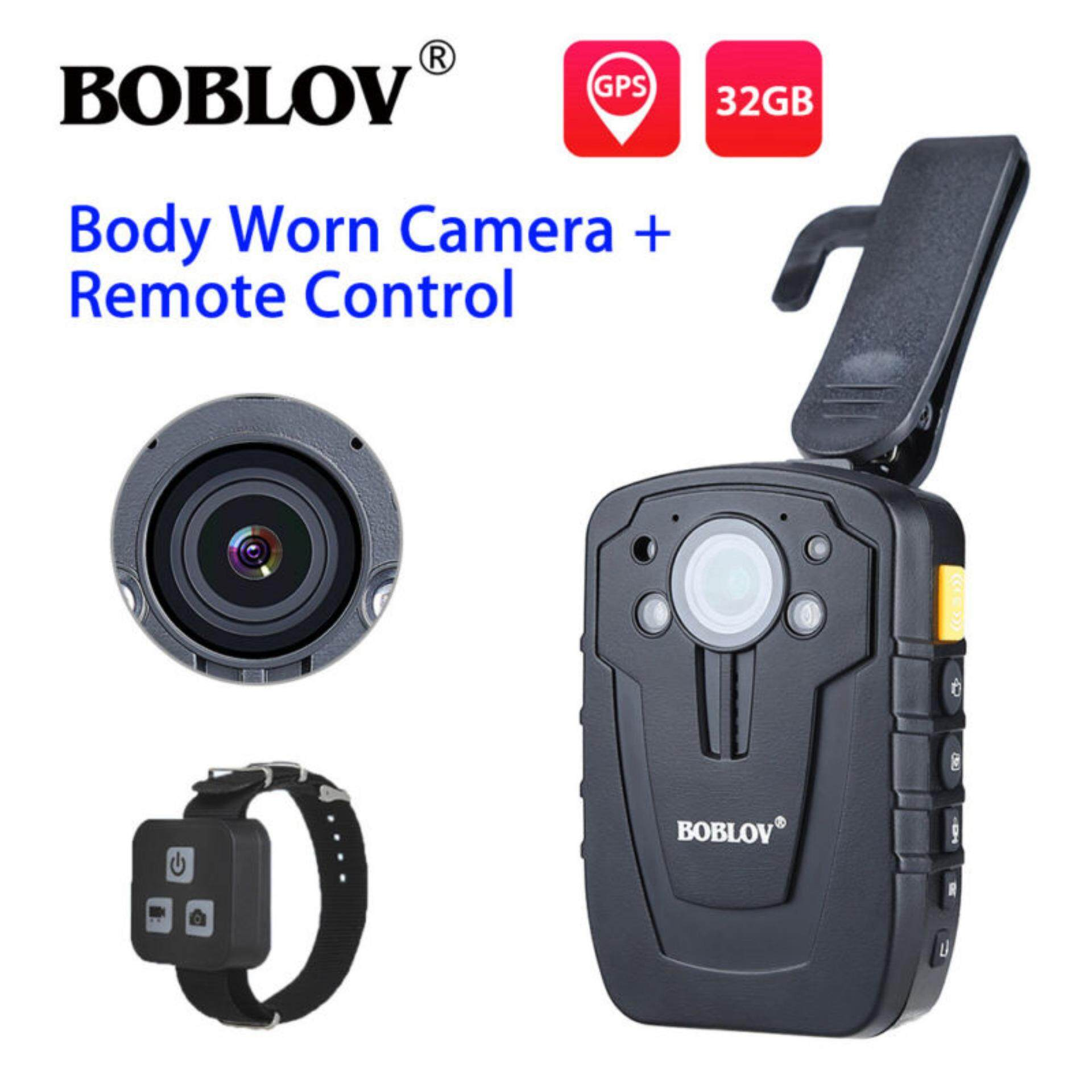BOBLOV HD 1296P 32GB 2.0″ Night Vision Body Worn Camera Recorder GPS Night Vision Security Camcorder IP66 +Remote Control – intl