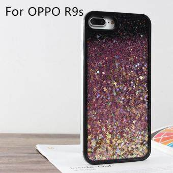 BONVAN Dynamic Glitter Sand Flowing Quicksand Shiny Case CrystalClear Cellphone Back Cover For OPPO R9s