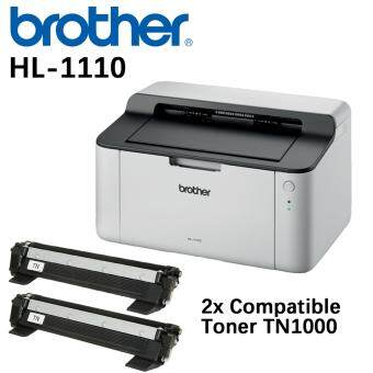Harga Brother HL-1110 Mono Laser Printer with 2x compatible toner