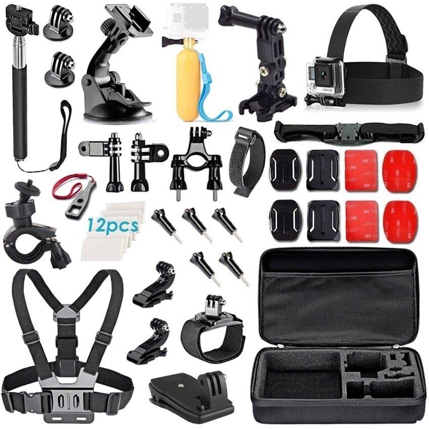 Aksesoris Kamera Kepala Dada Tali Sepeda Stang Holdersuctioncupmount Penahan 360 Putar Cepat Klip untuk GoPro Hero4 3 + 32- internasional