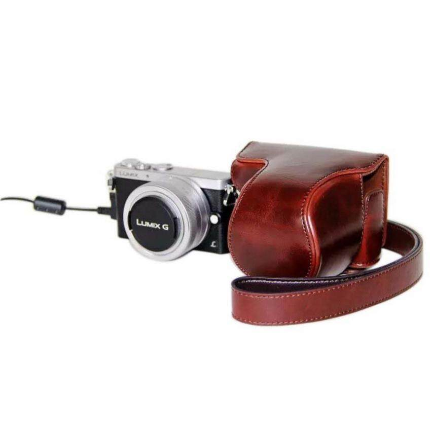 Camera Bag Case PU Leather Case for Digital Camera Panasonic LumixGM1 GM2 GM5 With Strap   - intl