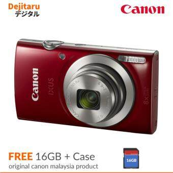 Harga Canon Ixus 185 Digital Camera + Case + 16GB (Canon Malaysia Warranty)