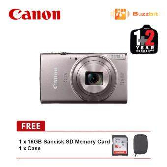 Harga Canon IXUS 285 HS Silver 20.2 MP Digital Camera (Canon Malaysia Warranty)