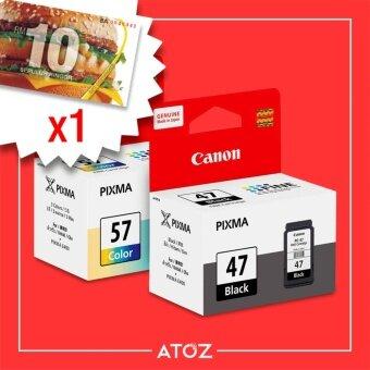 Canon PG-47 PG47 CL-57 CL57 Ink Combo Black Color Value Pack SET(Black/Color) *FREE RM10 McDonald's Voucher*