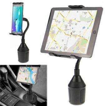 Harga Car Cup Holder Stand Mount Clip For Cell Phone Tablet GPS 360?Adjustable Cradle