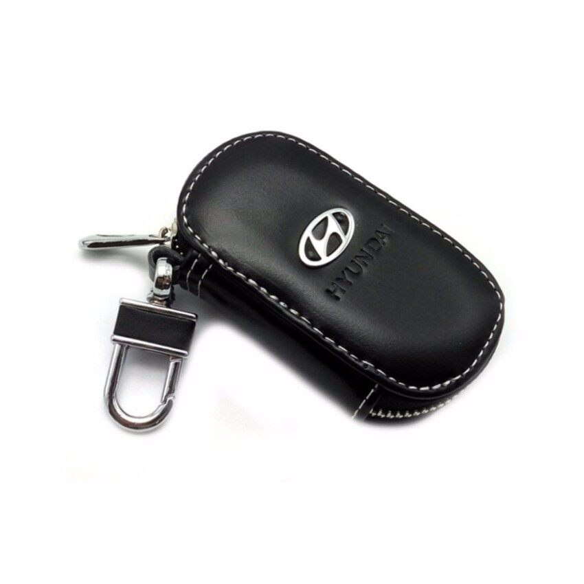 Yushong Car Drivers key Bag Black Leather Credit Card Bag Case For HYUNDAIi I20 I30 I35 I40 Tiburon Atos - intl