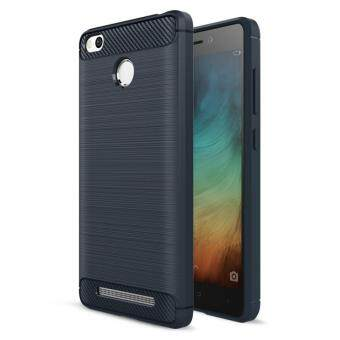 Carbon Fiber Brushed Rubber Armor Phone Case Soft TPU Silicone BackCover For Xiaomi Redmi 3S Redmi 3 Pro