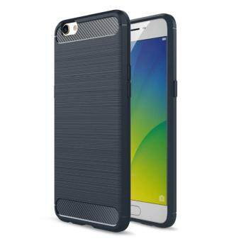 Carbon Fiber Texture Brushed Case Soft Rugged Silicone ShockproofArmor Cover Fundas For OPPO R9S Plus 6.0 Inch
