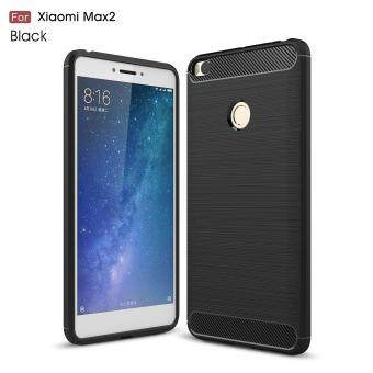 Carbon Fiber Texture Brushed TPU Back Case for Xiaomi Mi Max 2 -Black