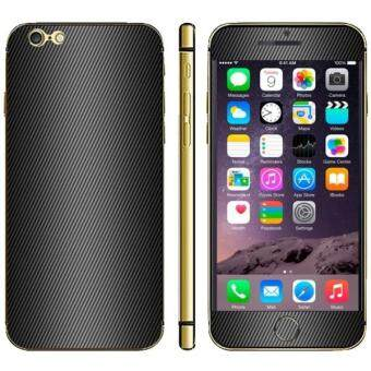 Carbon Fiber Texture Mobile Phone Decal Stickers for iPhone 6/6S/6S (Black)