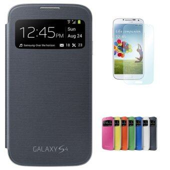 Harga Case for Samsung Galaxy S4 i9500 Flip Case Cover with View Window -Black