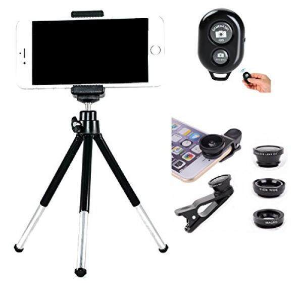 Cell Phone Camera Kit. Cell Phone Tripod. Bluetooth Remote Shutter and Universal 3 - 1 Cell Phone Camera Lens Kit with Fisheye. Wide Angle and Macro Lenses for iPhone and Samsung - intl