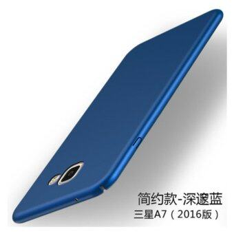 Classic High Quality 360 ultra-thin matte PC hard Protection Highquality classic Cover Case For S amsung Galaxy A7 2016(A7100???Blue)- intl