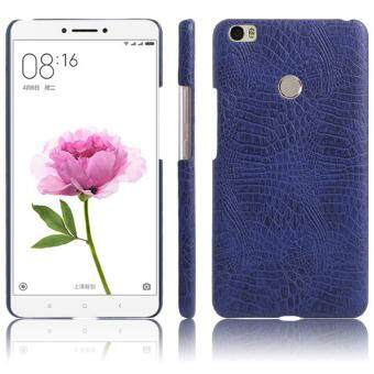 Harga Classic Simple Crocodile Stripe Protection Back Cover For Xiaomi MiMax 2(Blue) - intl