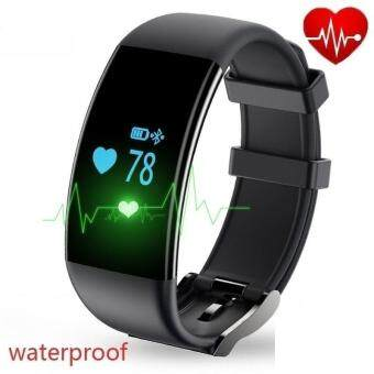 Harga D21 Heart Rate Monitoring Waterproof Bracelet Bluetooth Touch Screen Sports Watch Smart Watch Can Be Set Alarm Clock