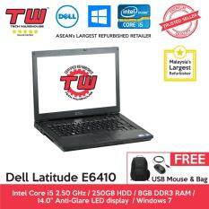 Dell Latitude E6410 Core i5 / 8GB RAM / 250GB HDD / Windows 7 Laptop / 3 Month Warranty (Factory Refurbished) Malaysia