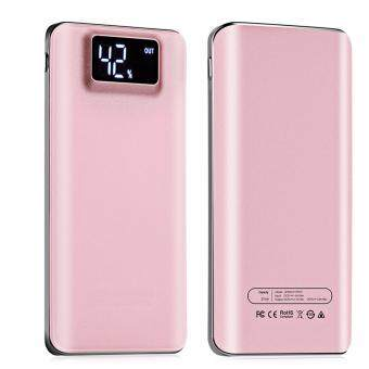 Digital 20000mAh Power Bank Big Capacity Super Slim Mobile Power Bank External Battery Dual USB Port with LCD Power Display Screen Ultra Slim Powerbank