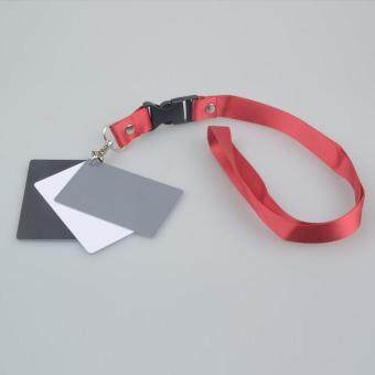 Digital Camera 3in1 Pocket-Size White Black Grey Balance Cards NeckStrap