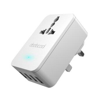 Harga dodocool 20W 4A Smart 4 USB Charging Port Portable Multi-functionTravel Power Adapter Wall Charger with Universal AC Outlet UK Plug