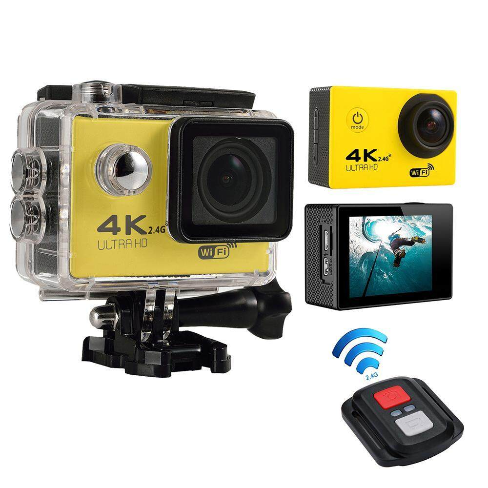 efuture 4K HD Wifi Action Camera 2.0 Inch 170 Degree Wide Angle Lens Action Camera WIFI 4k Waterproof Sports Action Camera, Yellow – intl