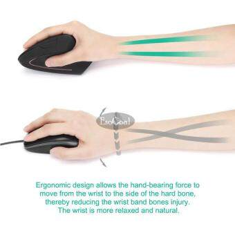 EsoGoal 2.4G Wireless Vertical Ergonomic Optical Mouse Adjustable DPI High Precision Optical Mice (Black) Malaysia