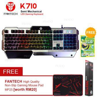 Fantech ECLIPSE K710 Semi-Mechanical Switches RGB Light Gaming Keyboard + FREE Super Clean Gel + FREE MP25 Mouse Pad