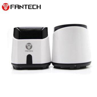 Fantech HellScream GS201 Gaming and Music Mobile Speakers with Bass Resonance Membrane for Computer PC or Laptop (White)