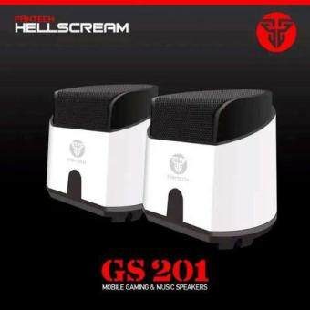Fantech HellScream GS201 Gaming and Music Mobile Speakers with Bass Resonance Membrane for Computer PC or Laptop (White) Malaysia