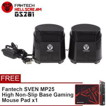 Fantech HellScream GS201 Mobile Gaming and Music Speakers with Bass Resonance Membrane (Black)