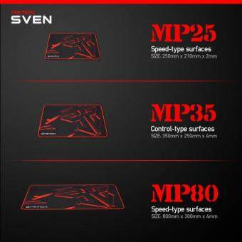 Fantech SVEN MP35 High Non-Slip Base Gaming Mouse Pad with Locker Edge Malaysia