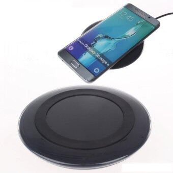 Fast Charge Wireless Charger with Pad For Samsung S7 / S6 - Black Color