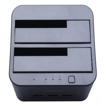 Fideco MR115BK Dual Bay HDD Docking Station With Built-in 3*USB 3.0 - 3