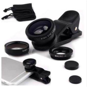 Harga Fisheye Lens 3 in 1 Mobile Phone Lenses Fish Eye + Wide Angle +Macro Camera Mens for Cell Phone