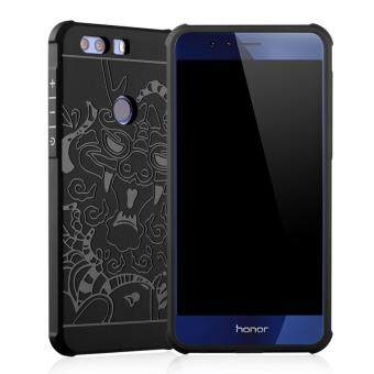 For Huawei Honor 8 Silicon TPU Anti-fall Airbag Cover Case(BlackDragon)
