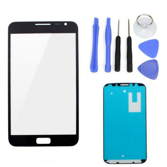 Harga For Samsung Galaxy Note1 N7000 Black LCD Front Touch Screen GlassOuter Lens 4.8'' +Tools+Adhesive