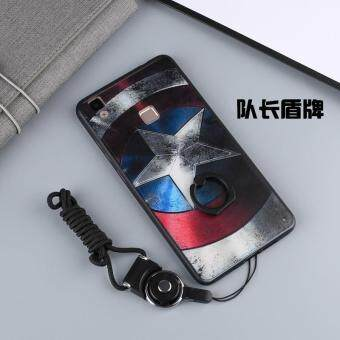 For VIVO V3 Max Case Cover New Hot Sell Fashion Ultra-thin 3DStereo Relief Colorful Painting Soft Back Covers/Anti falling PhoneCover/Shockproof Phone case With Metal Ring and Phone Rope(DUIZHANG) - 2