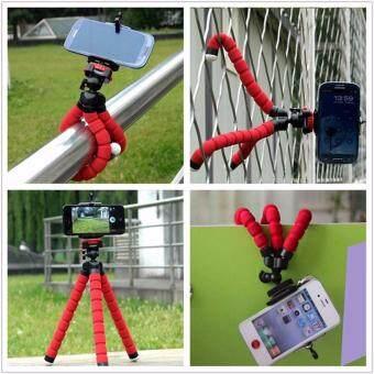 [FREE PHONE HOLDER] New Portable Phone Tripod Camera Holder TripodFlexible Octopus Tripod Bracket Stand Mount Monopod For Phone &Camera (Blue) - 3