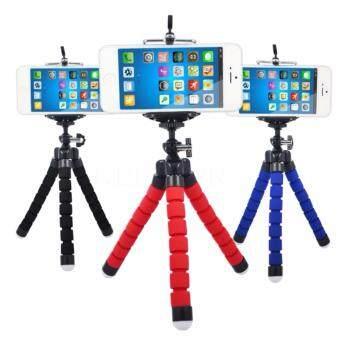 [FREE PHONE HOLDER] New Portable Phone Tripod Camera Holder TripodFlexible Octopus Tripod Bracket Stand Mount Monopod For Phone &Camera (Blue) - 2