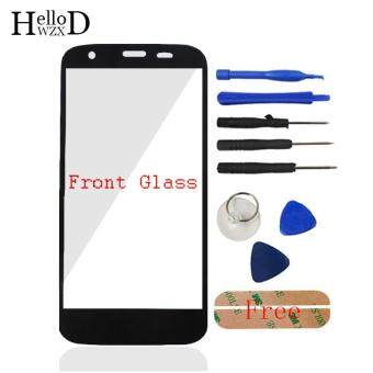Front Outer Glass Screen Lens (No Touch) For Motorola Moto G XT1032XT1033 + Free Tools + Adhesive (Black)