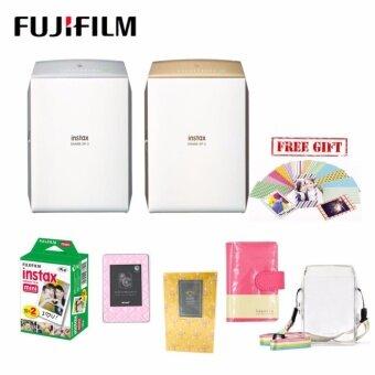 Fujifilm Instax Share SP-2/ SP2 Package (20pcs FIlm + Film Sticker (10pcs) + SP-2 Crystal Case + Laporta album + Geometric Album + Diamond Stand)
