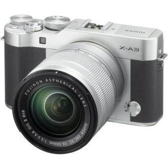 Fujifilm X-A3 Mirrorless Digital Camera with XC 16-50mm f/3.5-5.6 OIS II Lens, Silver(FUJI MALAYSIA 1 YEAR WTY)