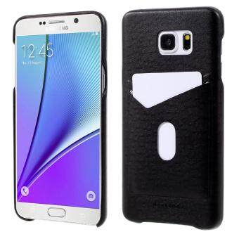Harga G-CASE Ostrich Texture Leather Coated PC Mobile Case for SamsungGalaxy Note5 N920 with Card Slot - Black