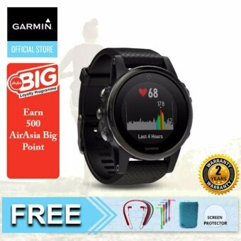 Harga Garmin Fenix 5S Black Sapphire with Black Band Get More From Your Workout {Buy 1 Get Freebie}