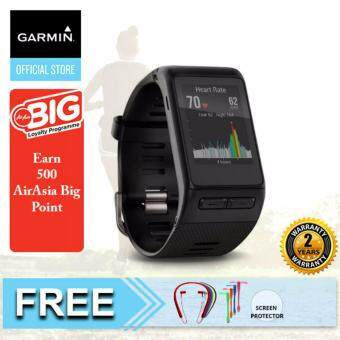 Harga Garmin Vivoactive HR GPS Smartwatch with Wrist-based Heart Rate BLACK ASIA {Buy 1 Get Freebie}