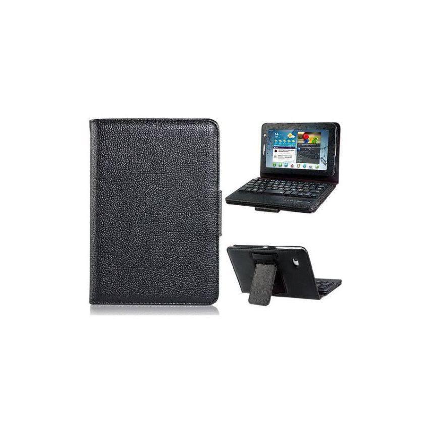 Generik Tiruan Kulit Lipat Case dengan Dibangun Di Bluetooth Keyboard untuk Samsung Galaksi TAB 2 7.0